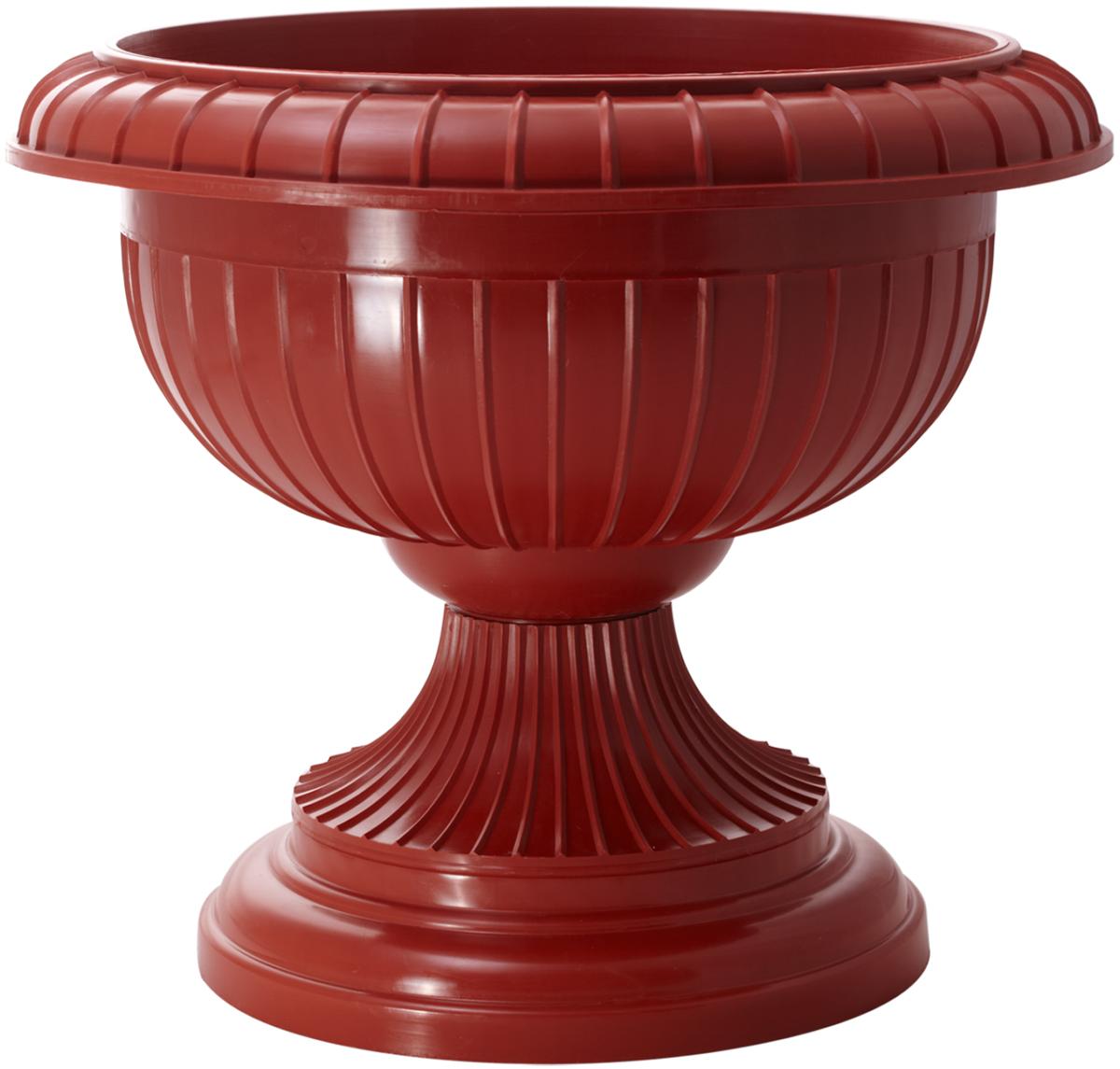 Фото - Вазон InGreen, цвет: терракотовый, высота 33 см вазон балконный с подставкой алеана дама 100 х 18 см терракотовый