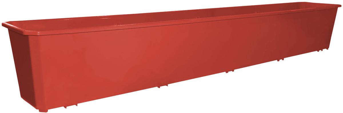 Фото - Ящик балконный InGreen, цвет: терракотовый, 100 х 17 х 15 см. ING1804ТР вазон балконный с подставкой алеана дама 100 х 18 см терракотовый