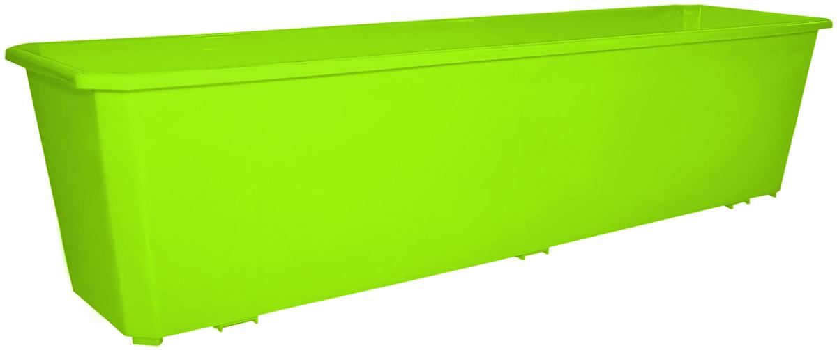 Ящик балконный InGreen, цвет: салатовый, 60 х 17 х 15 см. ING1806СЛ поддон для балконного ящика ingreen цвет белый длина 60 см
