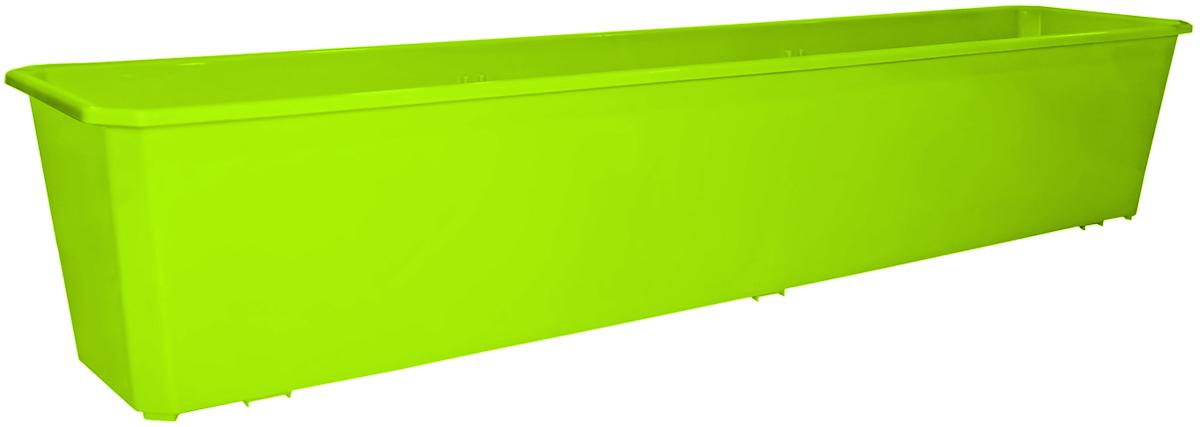 Ящик балконный InGreen, цвет: салатовый, 80 х 17 х 15 см. ING1807СЛ Уцененный товар (№2) ящик для рассады archimedes урожай 2
