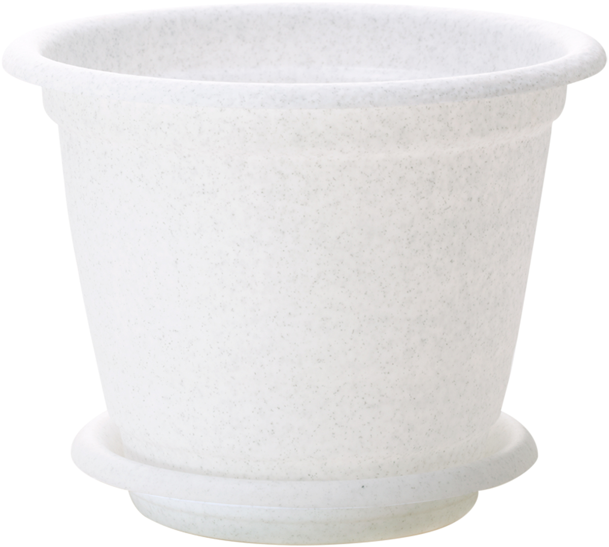 Горшок для цветов InGreen Натура, с поддоном, цвет: мраморный, диаметр 14 см поддон для балконного ящика ingreen цвет белый длина 60 см