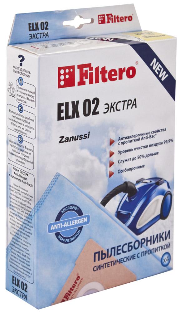 Мешок-пылесборник Filtero ELX 02 Экстра, для Electrolux, AEG, синтетический, 4 шт