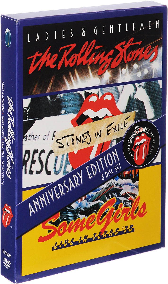 The Rolling Stones: Ladies & Gentlemen / Stones In Exile / Some Girls Live In Texas '78: Anniversary Edition (3 DVD) rolling stones the from the vault live in leeds 1982 dvd 2 cd