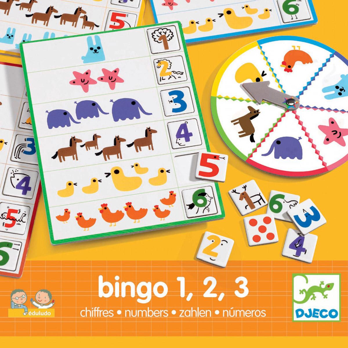 Djeco Обучающая игра Числа Бинго djeco обучающая игра счеты