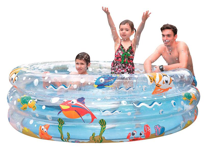 Бассейн надувной Jilong Ocean Fun, цвет: синий, 150 х 53 см, от 6 лет бассейн каркасный jilong kids frame pool цвет зеленый 152 х 152 x 33 см