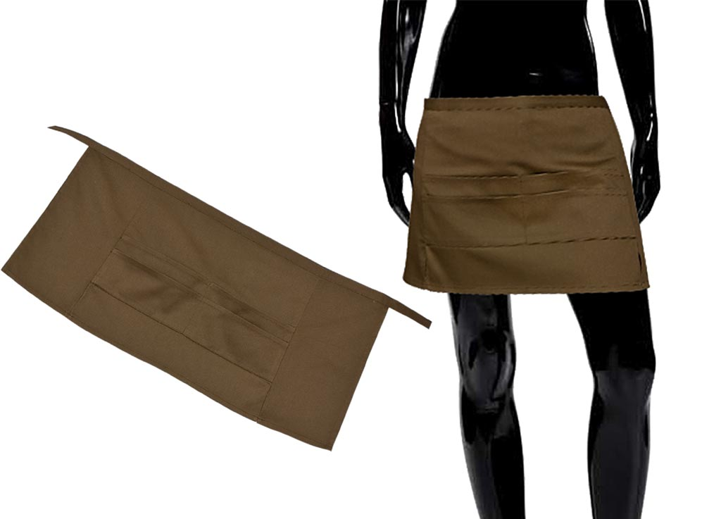 "Передник ""Soavita"", цвет: коричневый, 67 х 32 см"