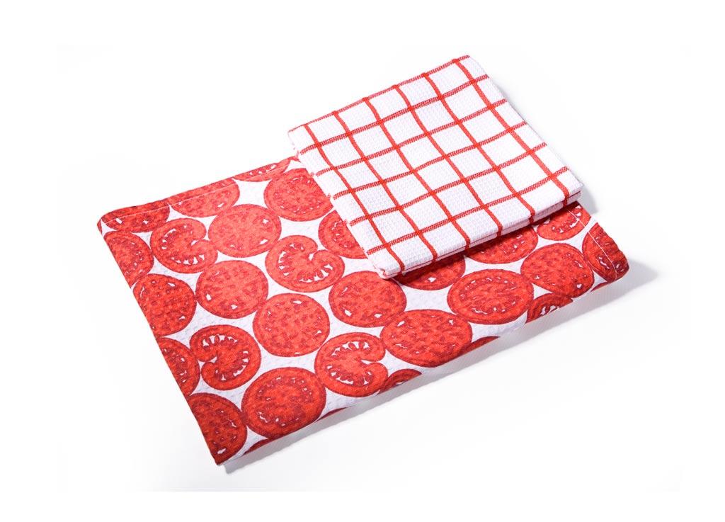 Набор кухонных полотенец Soavita Помидор, цвет: красный, 40 х 60 см, 2 шт набор кухонных полотенец soavita пасха цвет бежевый 40 х 60 см 3 шт