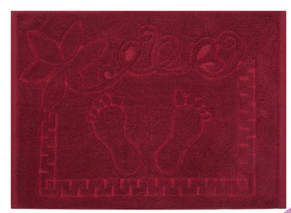 Полотенце Soavita Жаккард, цвет: бордовый, 50 х 70 см полотенце soavita добби цвет бежевый 50 х 70 см