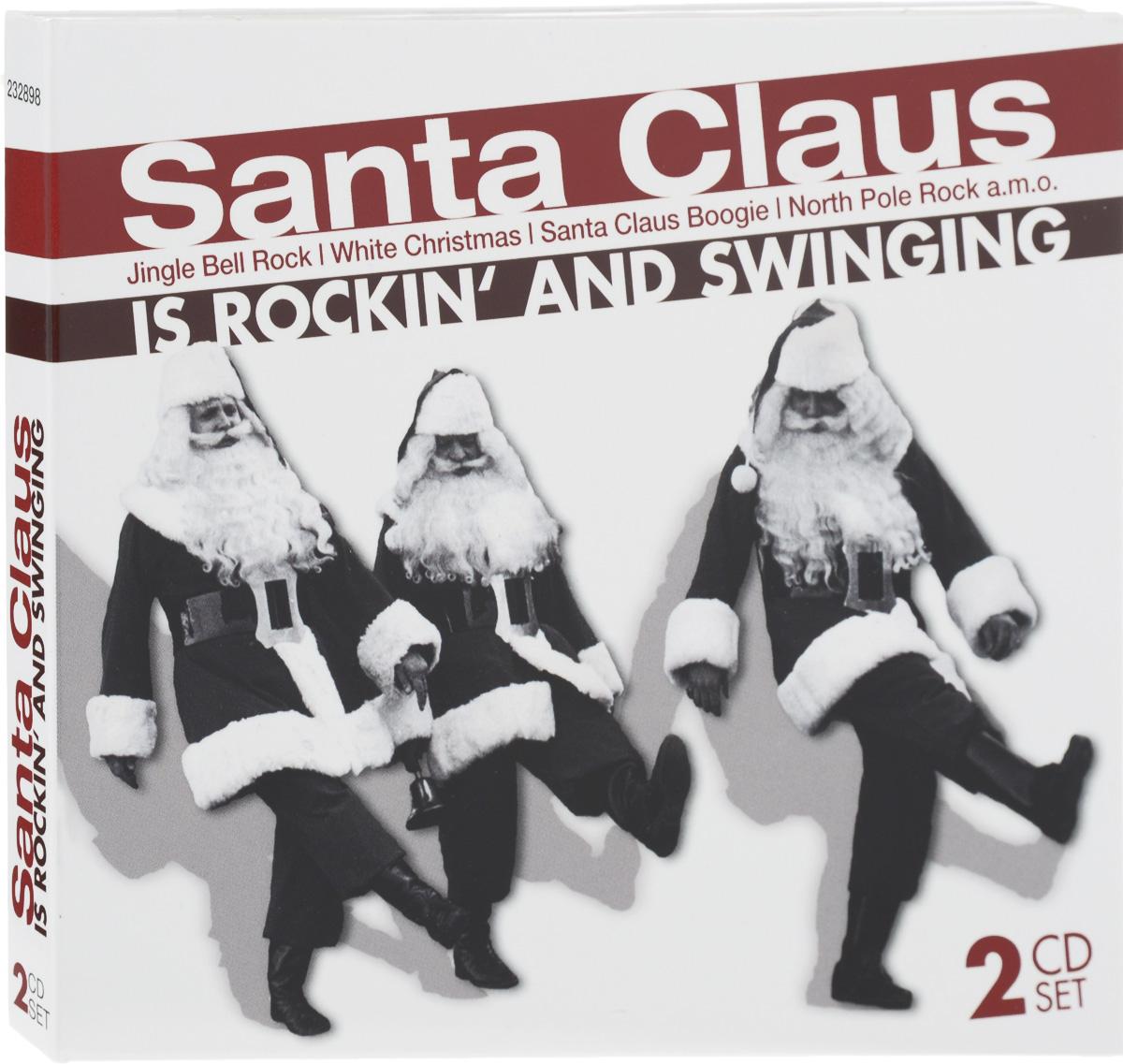 Santa Claus Is Rockin' And Swinging (2 CD) santa claus letter print wall art tapestry