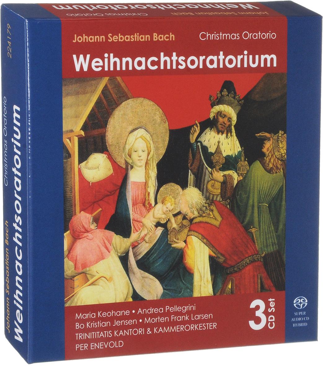 цена на Per Enevold,Trinitatis Kantori & Kammerorkester Per Enevold. Johann Sebastian Bach. Weihnachtsoratorium (3 SACD)