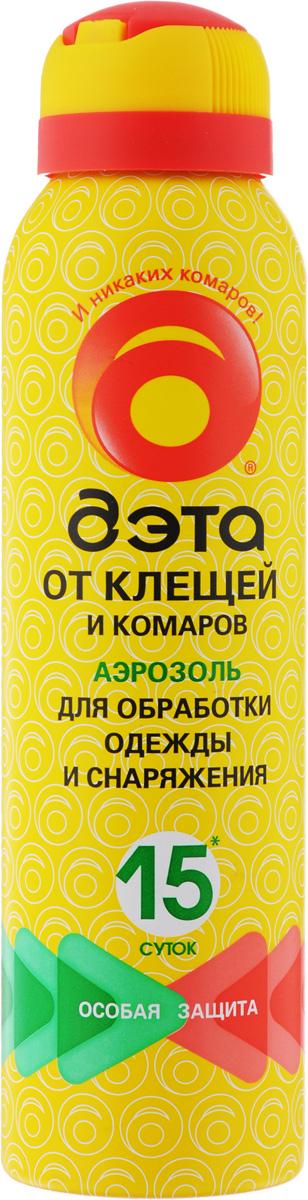 Аэрозоль от клещей и комаров Дэта, для обработки одежды и снаряжений, 150 мл прививка от клещевого энцефалита