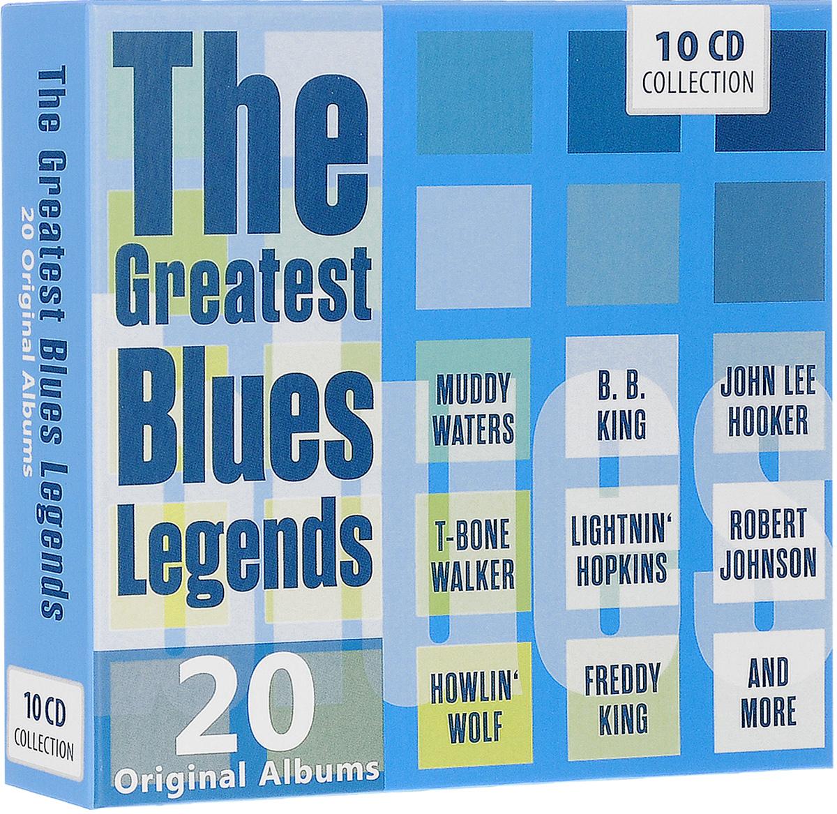 Мадди Уотерс,Артур Бернетт Честер,Би Би Кинг,Лайтнин Хопкинс,Джон Ли Хукер,Джимми Рид The Greatest Blues Legends. 20 Original Albums (10 CD) бадди гай роберт джонсон артур бернетт честер мадди уотерс этта джеймс вилли диксон 100 years of the blues 2 cd