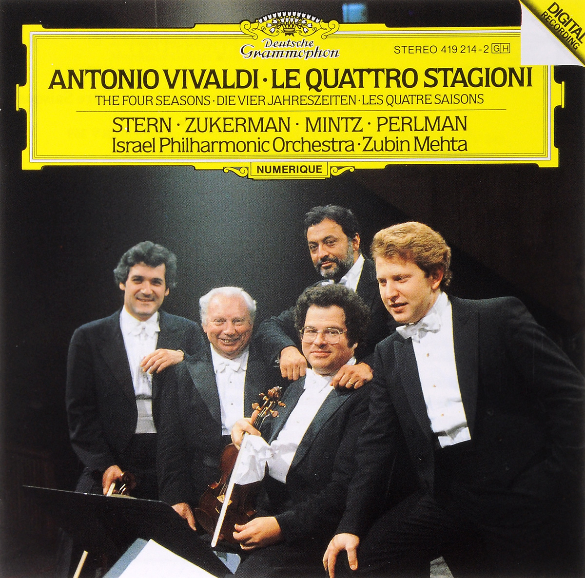 Шломо Минтц,Исаак Стерн,Зубин Мета Vivaldi. The Four Seasons vivaldi vivalditrevor pinnock the four seasons