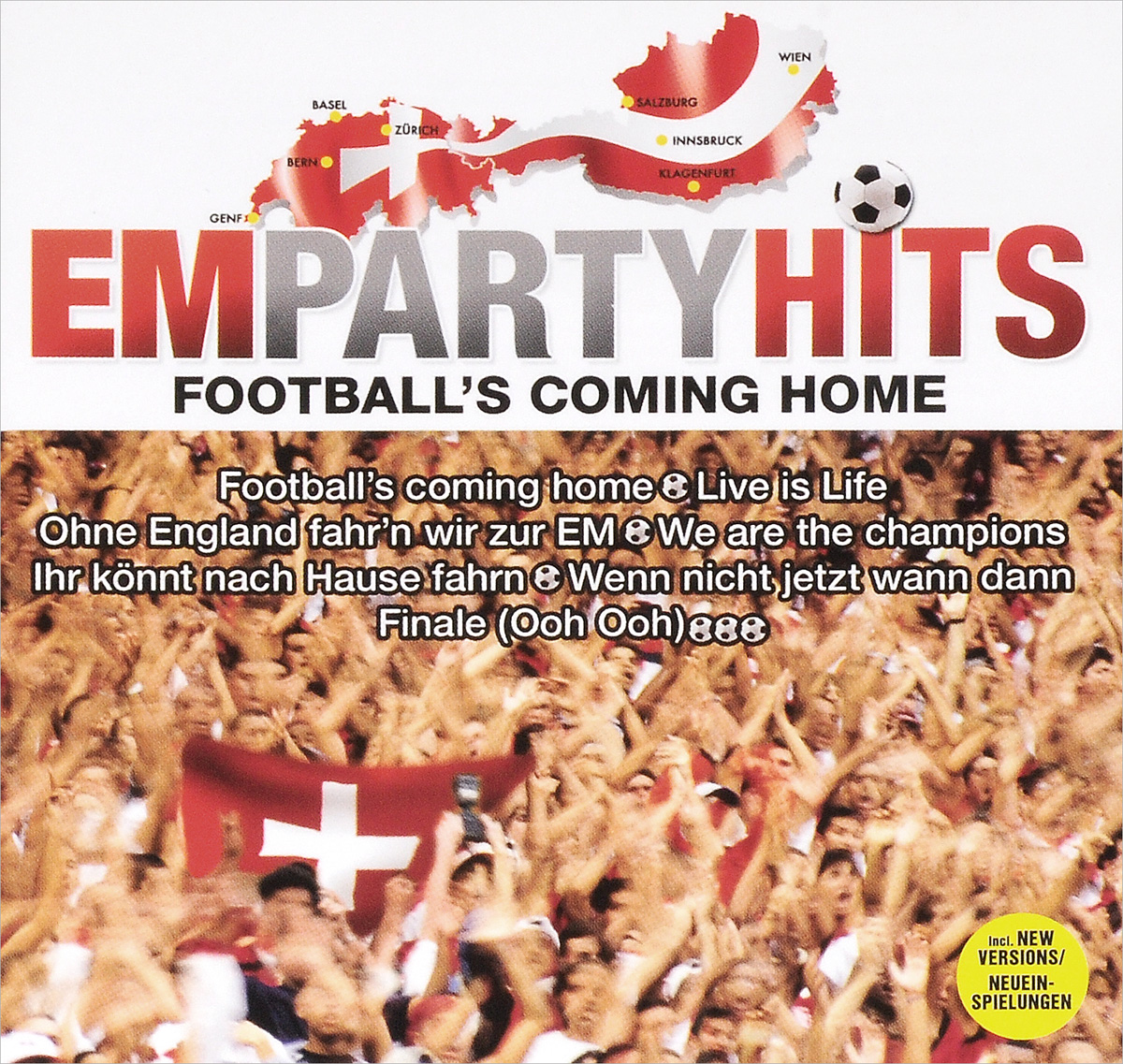 Crew 7 Em Party Hits. Football's Coming Home (2 CD) public viewing party hits 2 cd