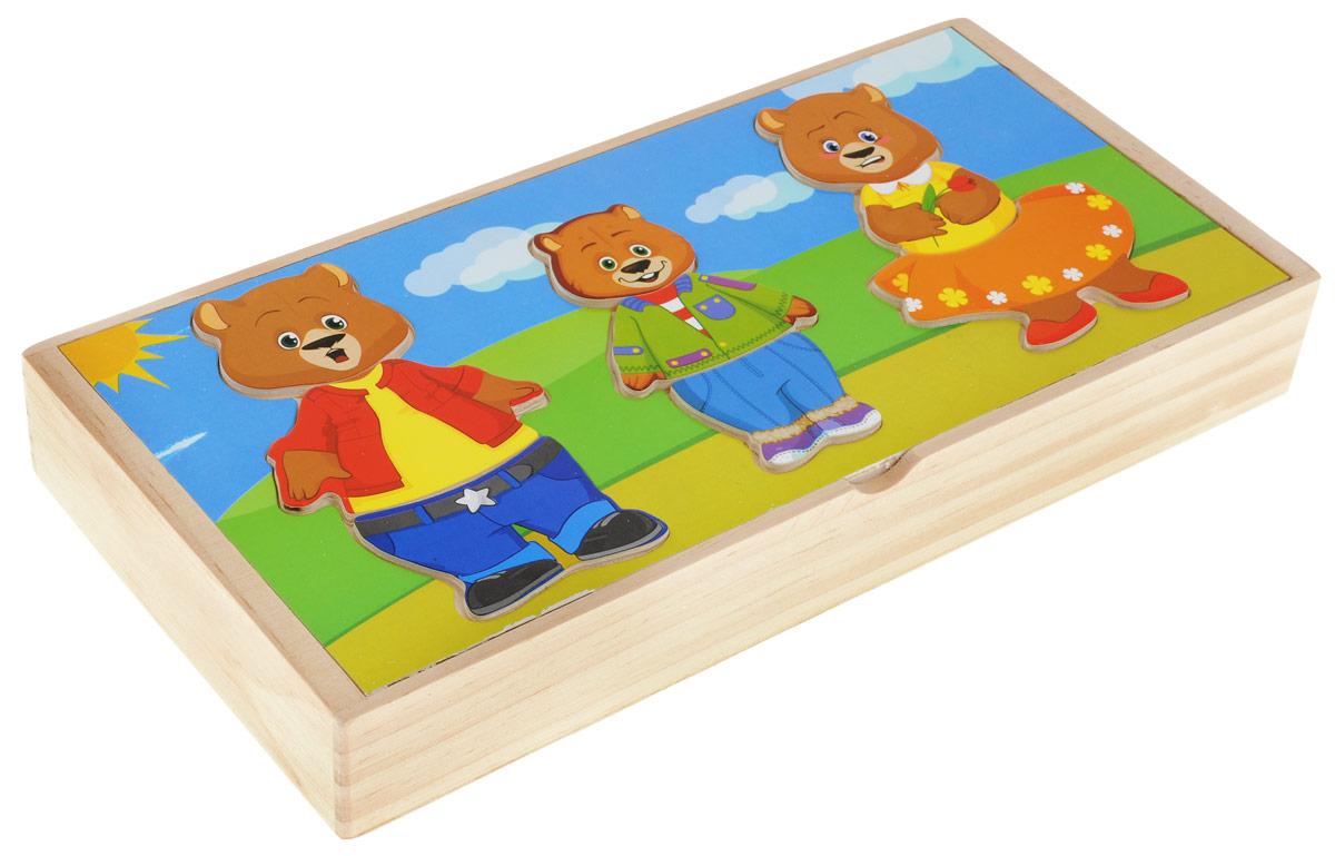 Мир деревянных игрушек Пазл Три медведя док станция для ноутбуков hp docking station 90w a7e32aa
