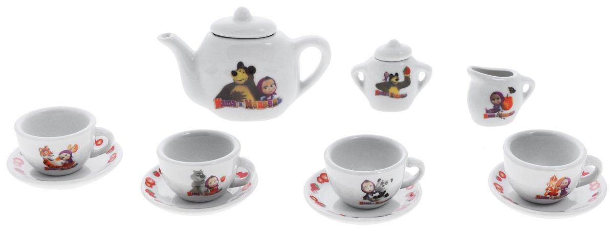 Играем вместе Игровой набор посуды Маша и Медведь 11 предметов цвет белый набор посуды hoffberg 17 предметов цвет белый 1729hff