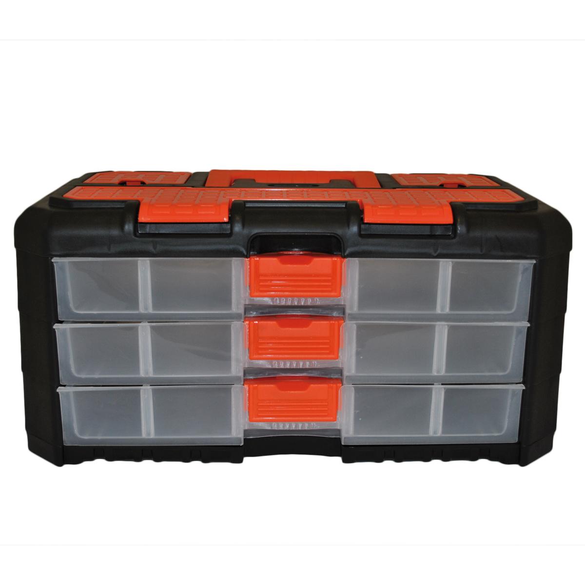 Органайзер для мелочей Blocker Grand, цвет: черный, оранжевый, 400 х 219 х 197 мм цена