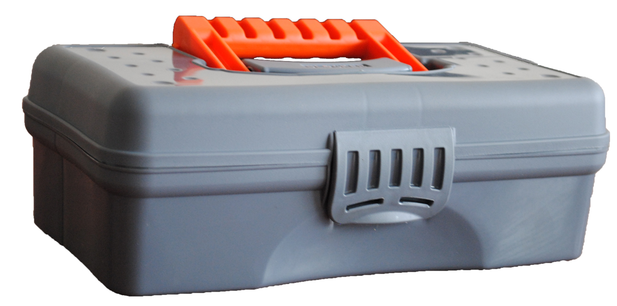 Органайзер Blocker Hobby Box, цвет: серый, оранжевый, 23,5 х 13 х 8 см цена