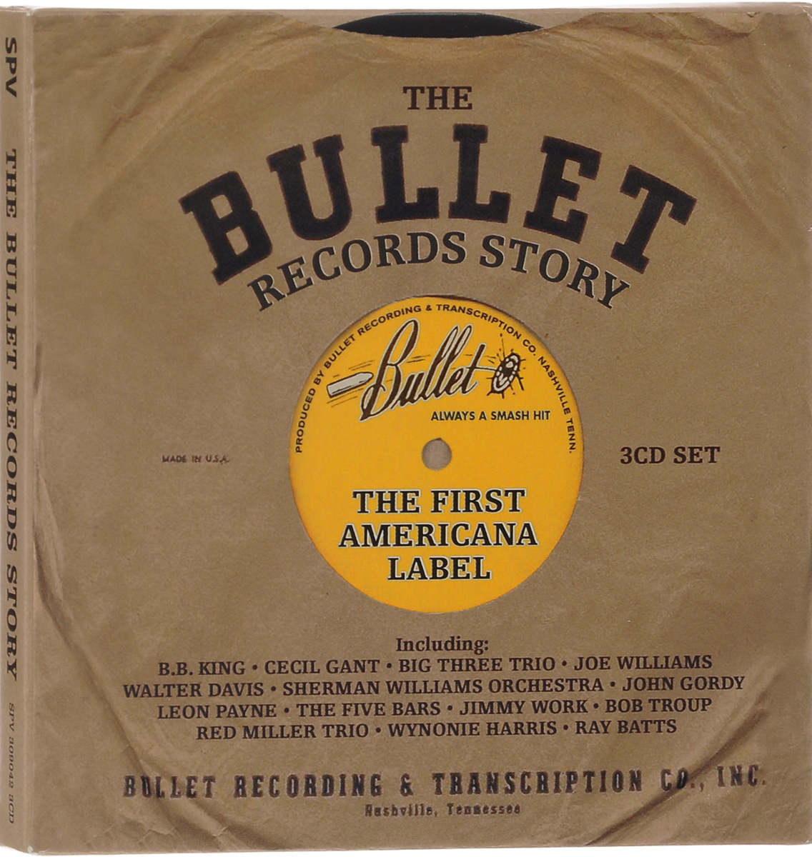 The Bullet Records Story. The First Americana Label (3 CD) bullet height bullet height no atonement lp cd