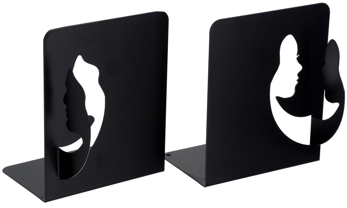 Подставка-ограничитель декоративная для книг Феникс-Презент Лица, 2 шт подставка ограничитель для книг штурман 2 шт