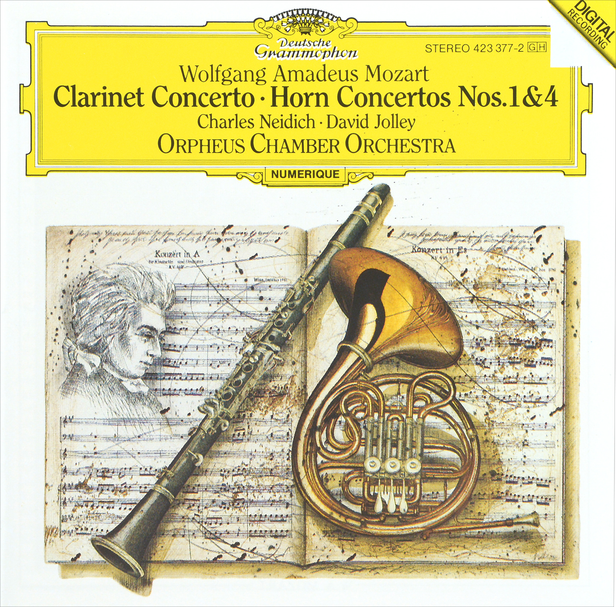 Orpheus Chamber Orchestra Charles Neidich. David Jolley. Wolfgang Amadeus Mozart. Clarinet Concerto / Horn Concertos Nos. 1 & 4 цены