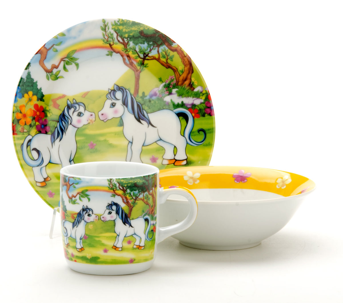 Набор посуды Mayer & Boch Пони, 3 предмета. 22864 набор посуды из 6 предметов mayer and boch мв 24949