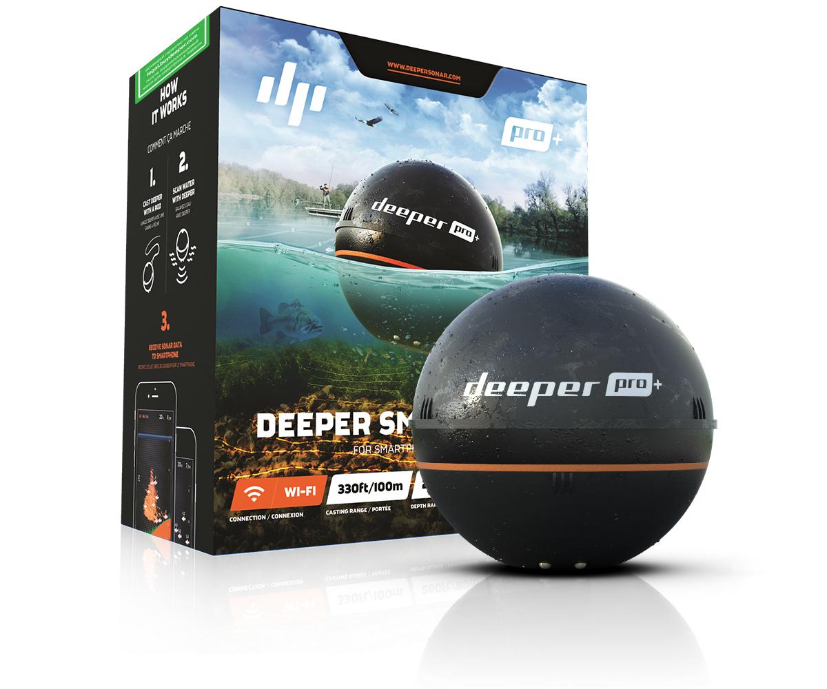 цены на Эхолот Deeper Smart Sonar pro+, Wi-Fi & GPS  в интернет-магазинах