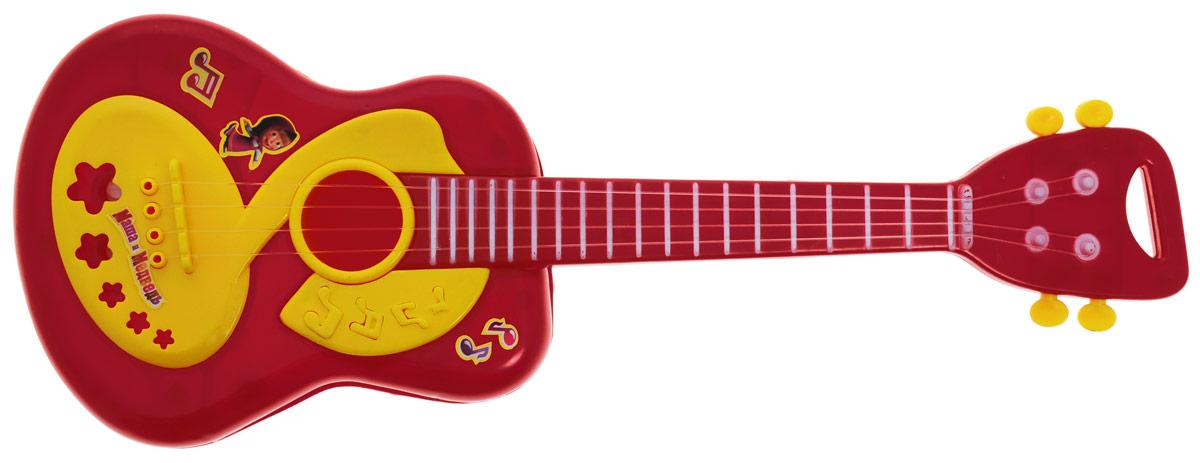 Играем вместе Гитара Маша и Медведь цвет темно-красный играем вместе музыкальный барабан маша и медведь со светом и звуком 3 песни