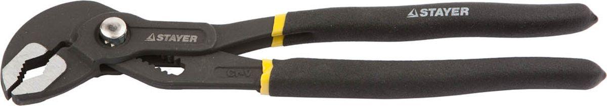 Клещи Stayer переставные усиленные, тип К, 250 мм клещи переставные stayer profi 2239 z01