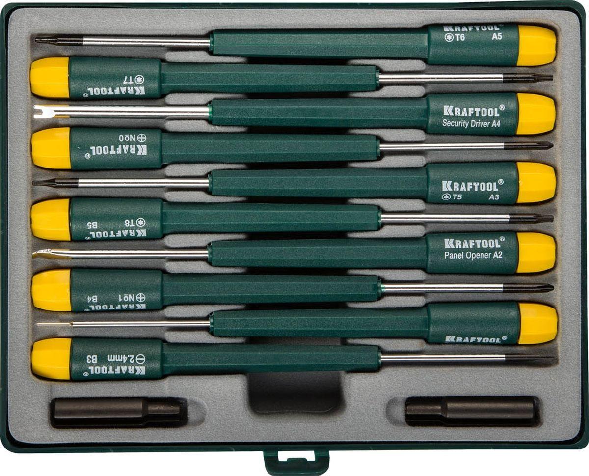 """Набор отверток """"Kraftool"""", для ремонта мобильных телефонов, 12 предметов"""