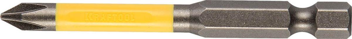 Биты Kraftool Industrie торсионные, обточенные, для механизированного инструмента, PH 2, 65 мм, 2 шт биты skrab торсионные ph 2 х 127 мм 10 шт