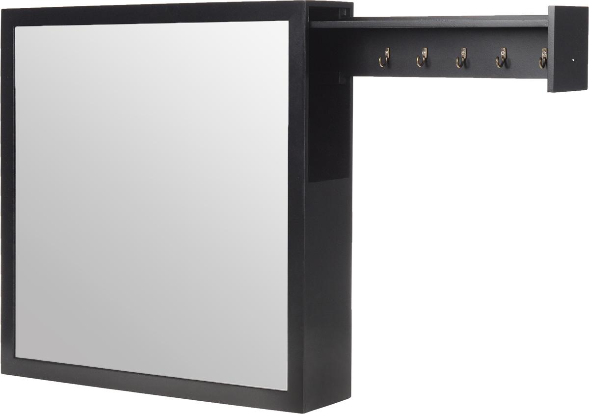 Шкатулка для хранения ключей, настенная, цвет: черный фотообои milan текстура дерева текстурные 200 х 135 см m 622