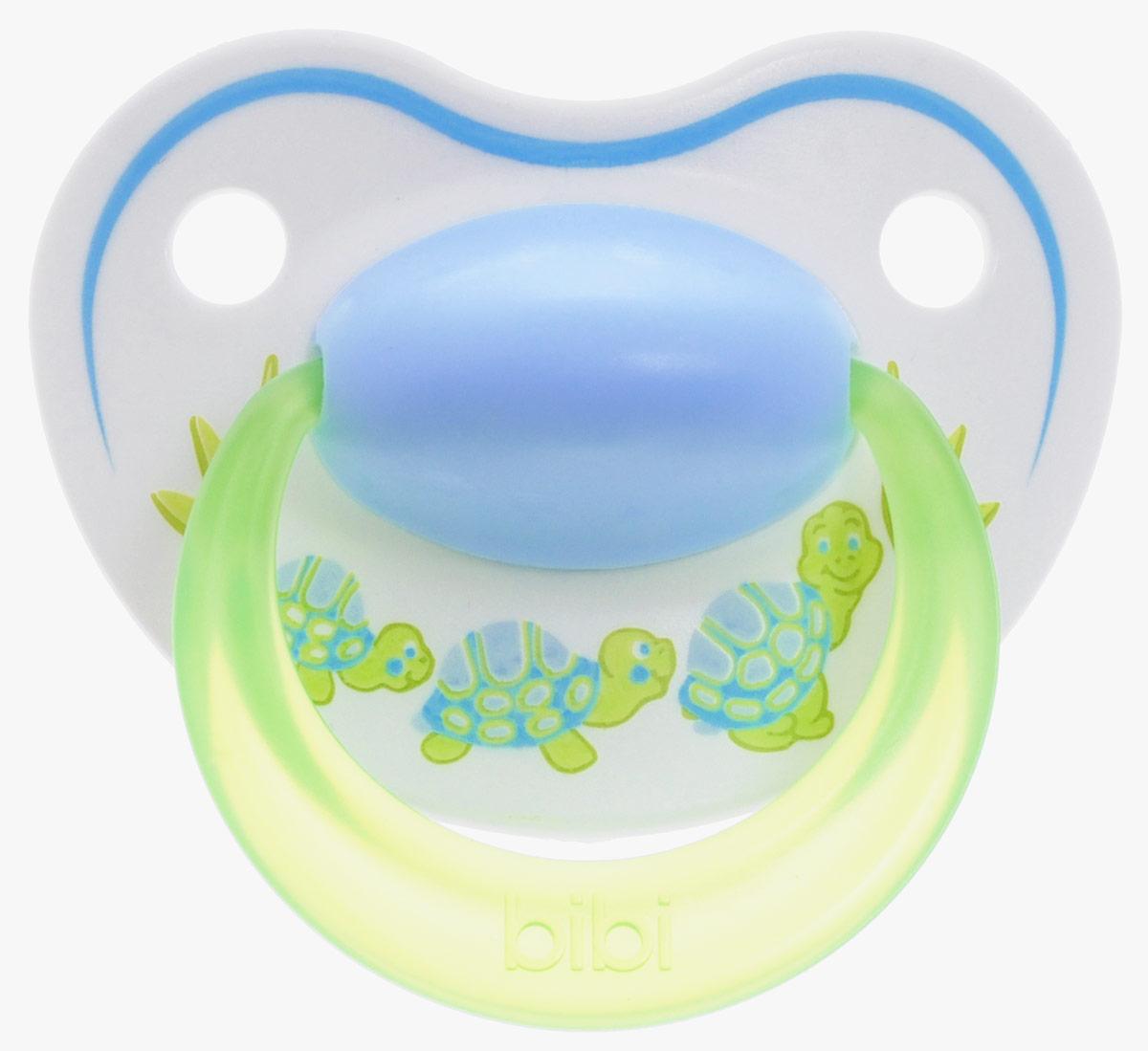Bibi Пустышка силиконовая Happiness Черепахи от 6 до 16 месяцев