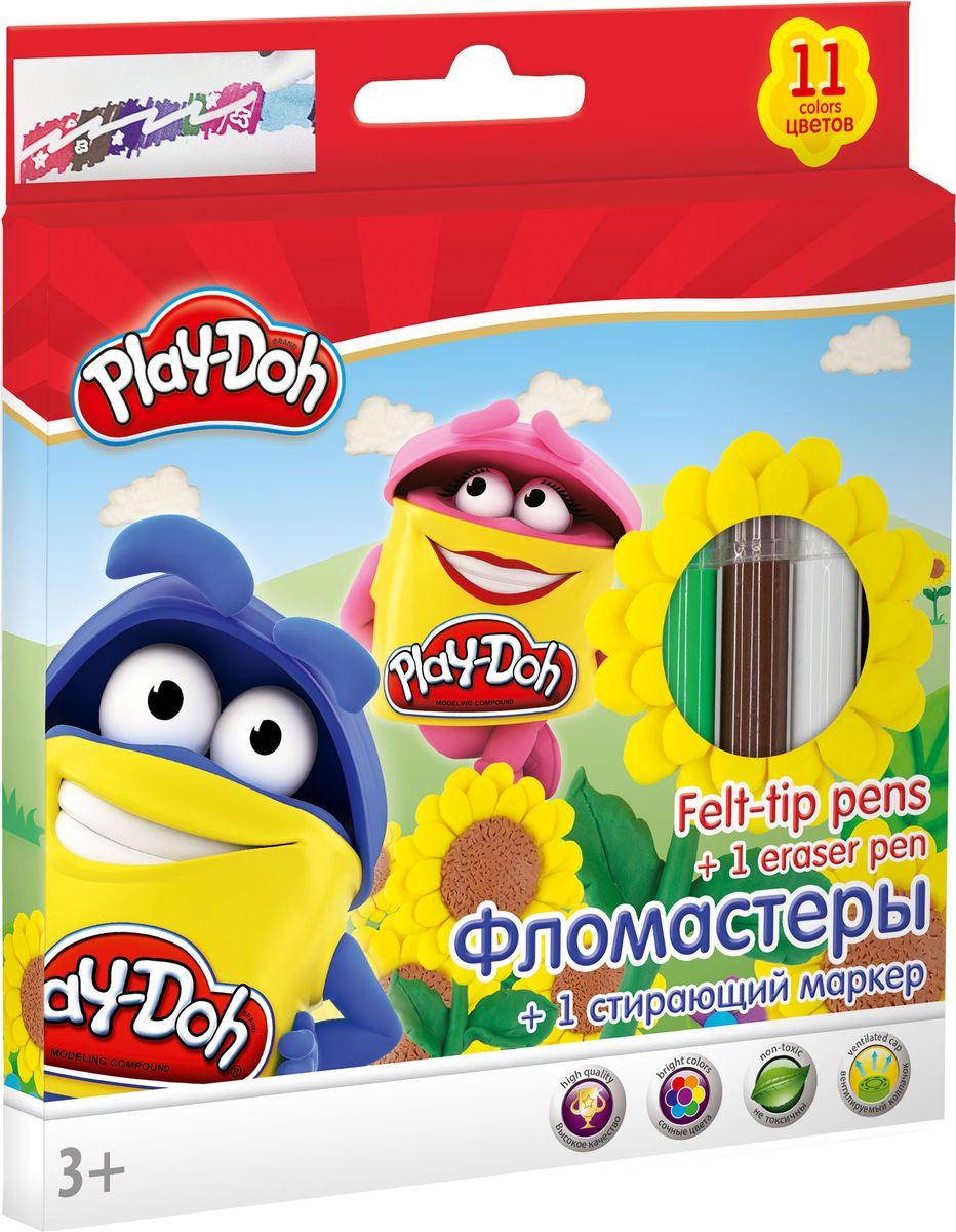Play Doh Набор цветных фломастеров 12 шт набор для рисования play doh необычное яйцо cpdo062