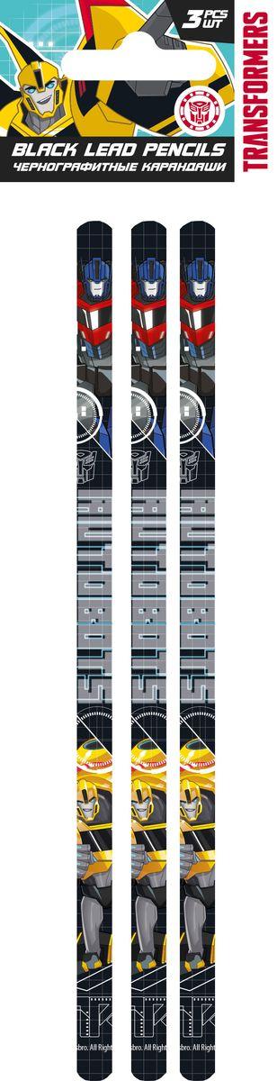 Transformers Набор чернографитных карандашей 3 шт набор цветных карандашей transformers prime 12 шт