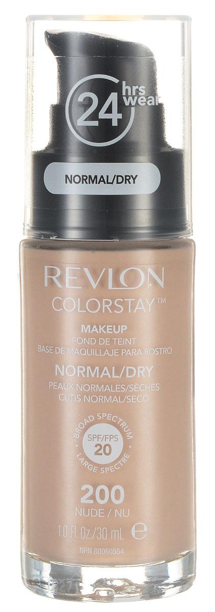 Revlon Тональный Крем для Норм-Сух Кожи Colorstay Makeup For Normal-Dry Skin Nude 200 30 мл