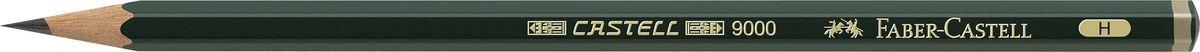 Фото - Faber-Castell Карандаш чернографитный Castell 9000 твердость H принадлежности для рисования faber castell кисточки clic
