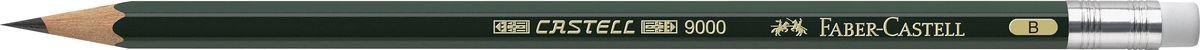 Faber-Castell Карандаш чернографитовый Castell 9000 твердость B faber castell чернографитовый карандаш triangular цвет корпуса белый черный мотив корова