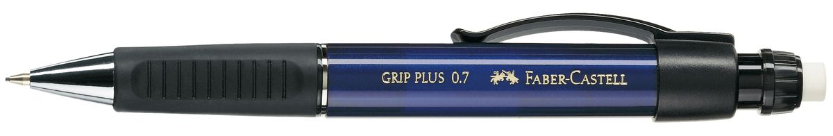 Faber-Castell Карандаш механический Grip Plus цвет корпуса синий 130732130732Механический карандаш Faber-Castell Grip Plus - незаменимый атрибут современного делового человека дома и в офисе.Корпус карандаша круглой формы с металлическим наконечником выполнен из высококачественного пластика. Дополнен корпус удобным пластиковым держателем, трехгранной резиновой областью захвата и толстым выдвижным ластиком. Карандаш оснащен инновационной системой, предотвращающей поломку грифеля.Убирающийся внутрь кончик обеспечивает безопасное ношение карандаша в кармане.Порадуйте друзей и знакомых, оказав им столь стильный знак внимания.