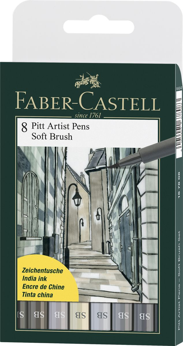 Faber-Castell Капиллярные ручки Pitt Artist Pen Soft Brush 8 шт