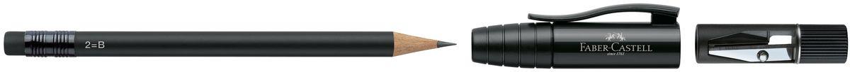 Faber-Castell Карандаш чернографитовый Perfect Pencil II цвет корпуса черный faber castell чернографитовый карандаш faber castell perfekt pencil 1 шт точилка