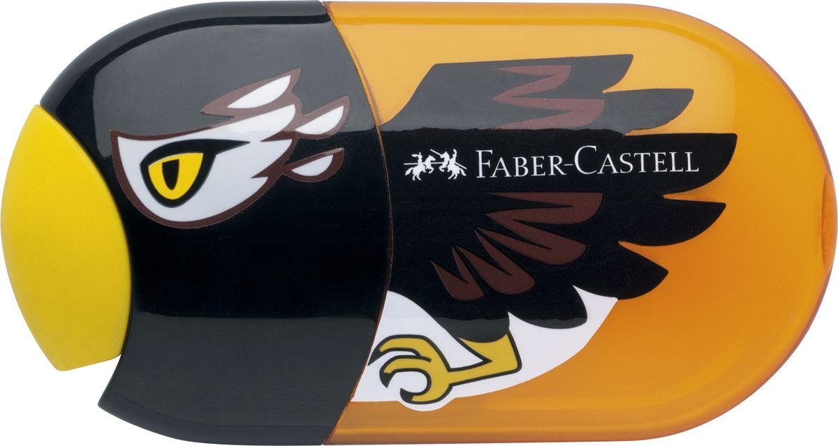 Faber-Castell Точилка с контейнером и ластиком Орел sephora collection точилка для карандашей с 2 отверстиями точилка для карандашей с 2 отверстиями