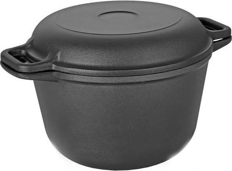 Фото - Казан Vari Litta, с крышкой-сковородой, цвет: черный, 5 л казан vari litta с крышкой сковородой с антипригарным покрытием 6 л
