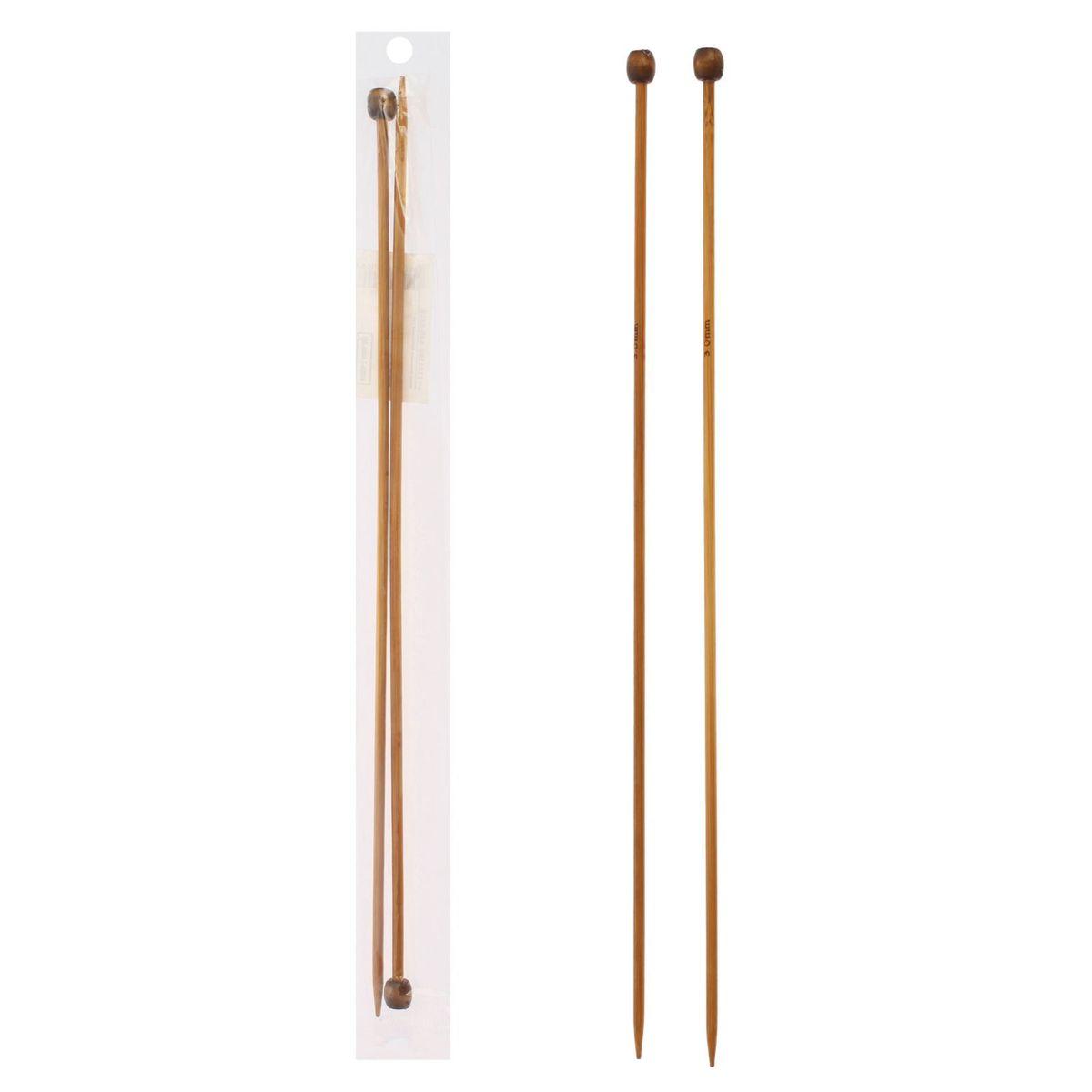 Спицы Sima-land, бамбуковые, прямые, диаметр 3 мм, длина 25 см, 2 шт сувенирное оружие sima land мушкет на планшете 2 шт 227436