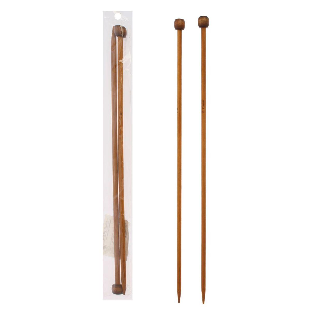 Спицы Sima-land, бамбуковые, прямые, диаметр 4 мм, длина 25 см, 2 шт сувенирное оружие sima land мушкет на планшете 2 шт 227436