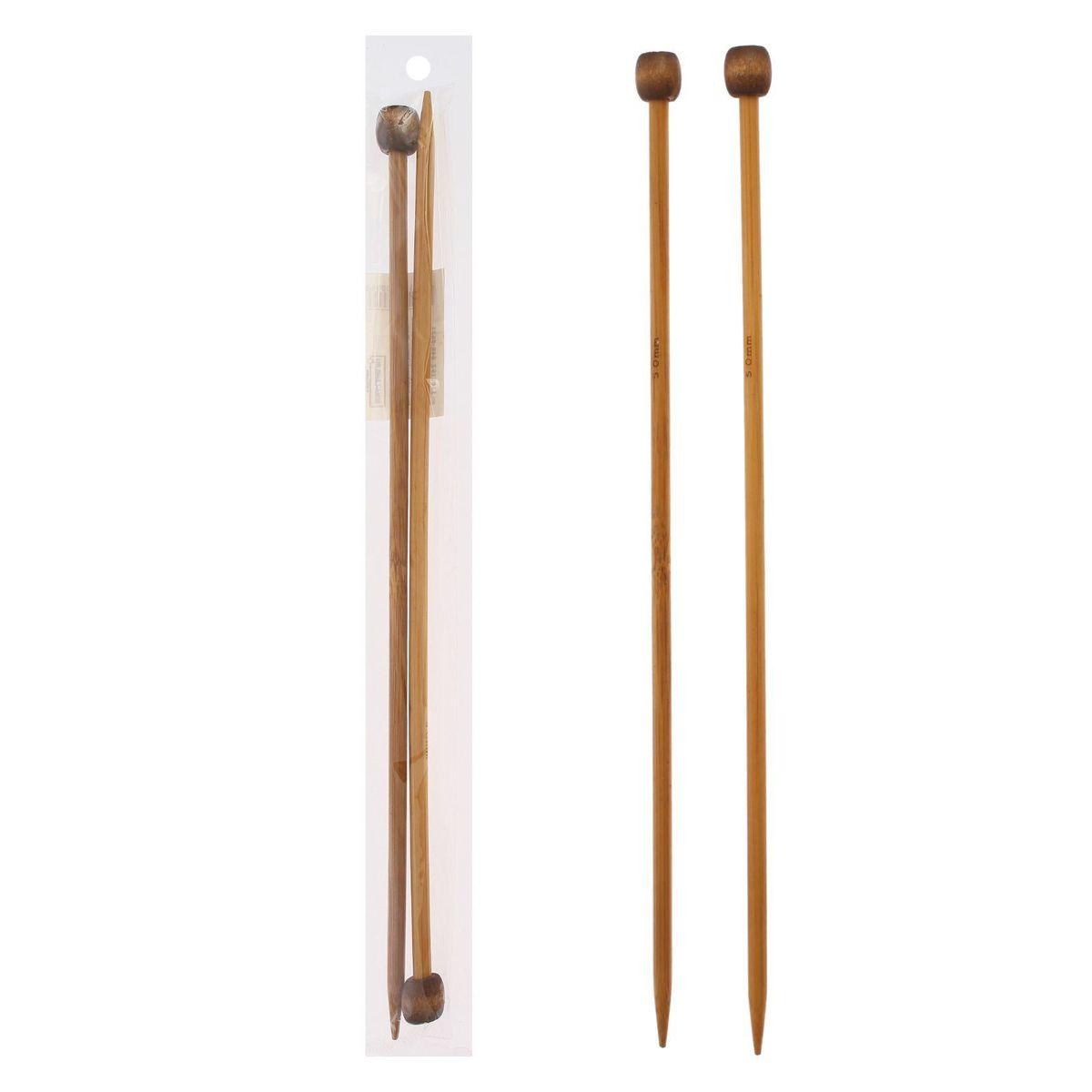 Спицы Sima-land, бамбуковые, прямые, диаметр 5 мм, длина 25 см, 2 шт сувенирное оружие sima land мушкет на планшете 2 шт 227436