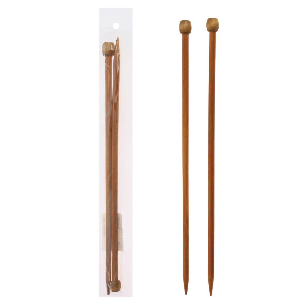 Спицы Sima-land, бамбуковые, прямые, диаметр 6 мм, длина 25 см, 2 шт сувенирное оружие sima land мушкет на планшете 2 шт 227436