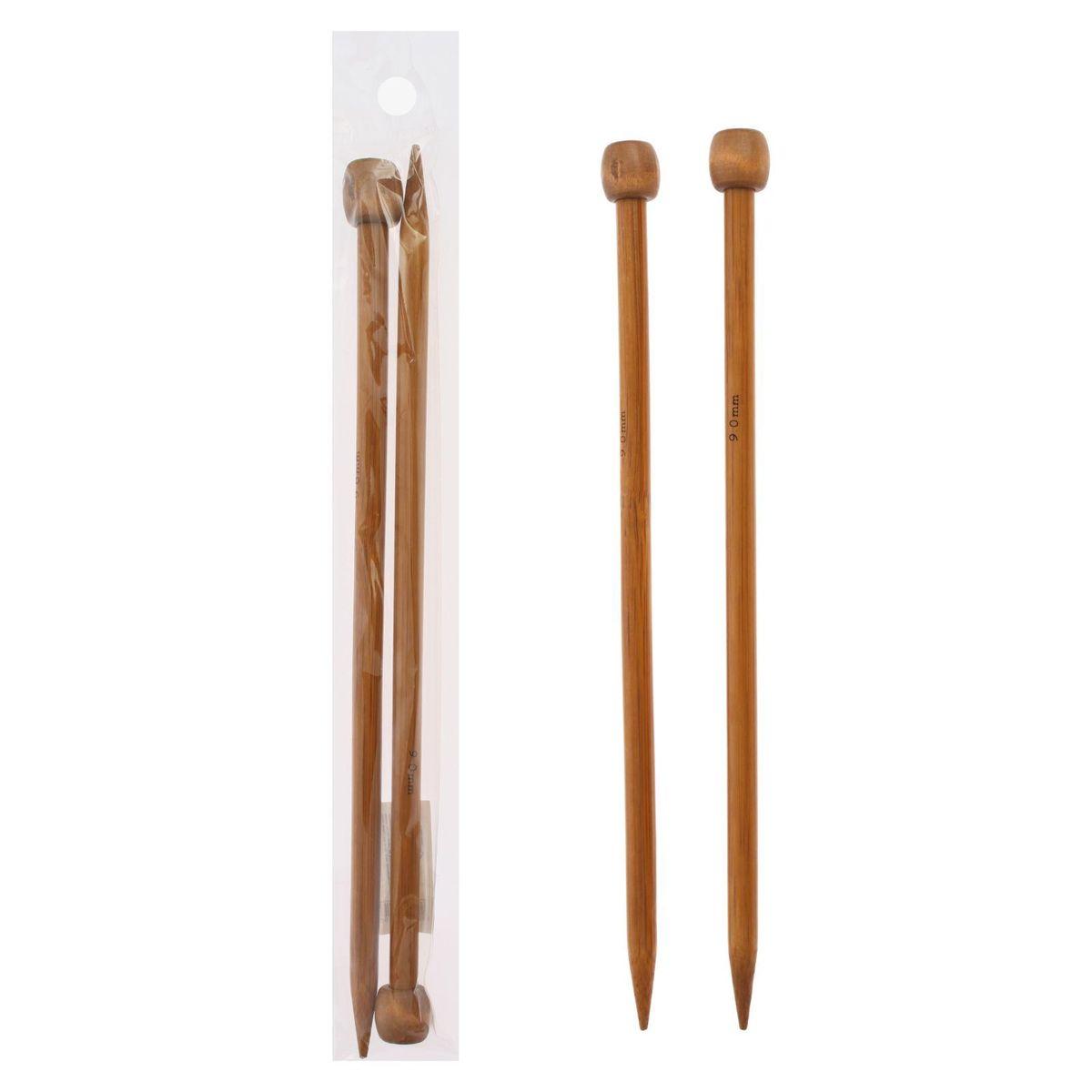 Спицы Sima-land, бамбуковые, прямые, диаметр 9 мм, длина 25 см, 2 шт сувенирное оружие sima land мушкет на планшете 2 шт 227436