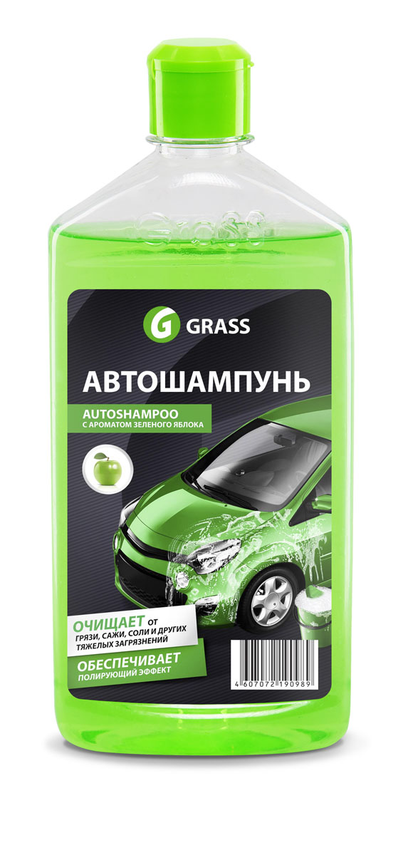 Автошампунь Grass Universal, с ароматом яблока, 500 мл автошампунь grass universal с ароматом апельсина 1 л