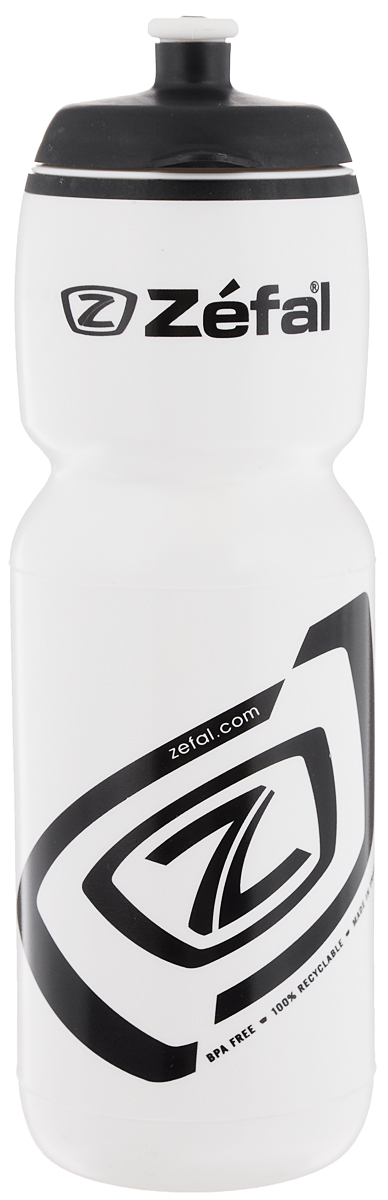 Фляга велосипедная Zefal Premier 75, цвет: белый, черный, 750 мл